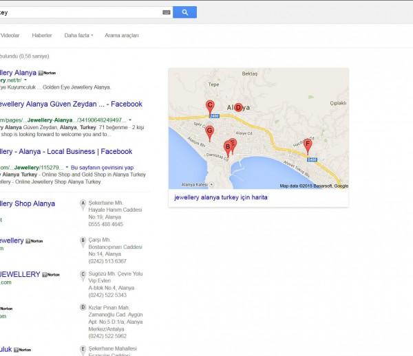 google yerel işletmeler