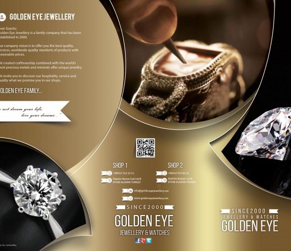 alanya golden eye jewellery tri fold photoshop çalışması