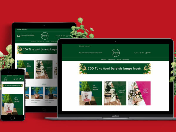 Balkon Bloemen E-Commerce Website Alanya