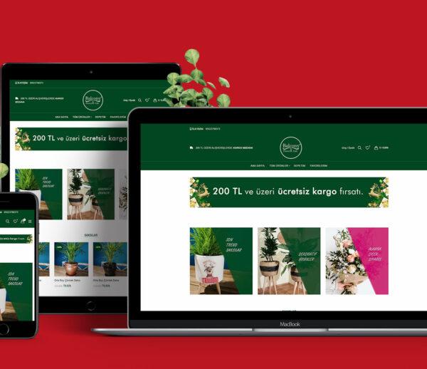 Balkong Blomster E-handel nettsted Alanya