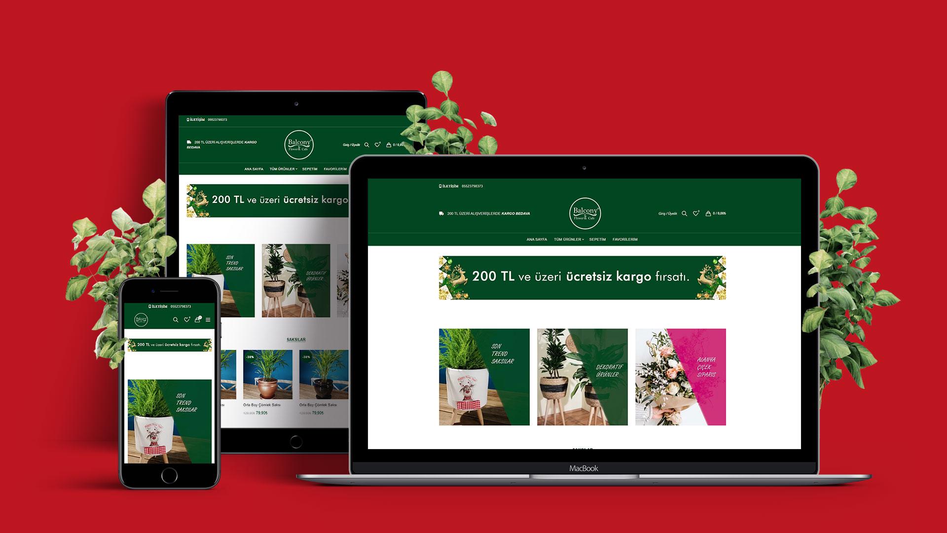شرفة الزهور موقع التجارة الإلكترونية