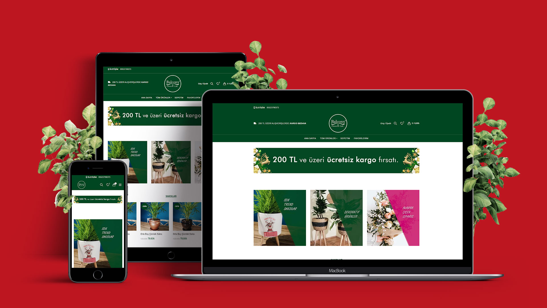 Balkon Blumen E-Commerce Website